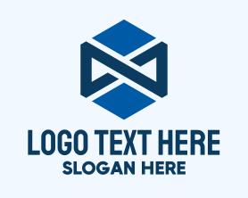 Advertising - Blue Infinity Hexagon logo design