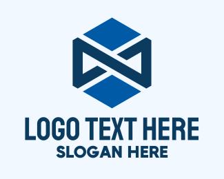Infinity - Blue Infinity Hexagon logo design