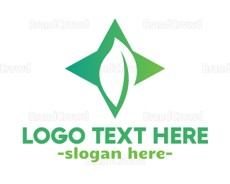 Abstract - Abstract Star Leaf logo design