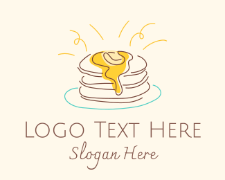 Toasted - Buttermilk Pancakes logo design