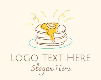 Delicious - Buttermilk Pancakes logo design