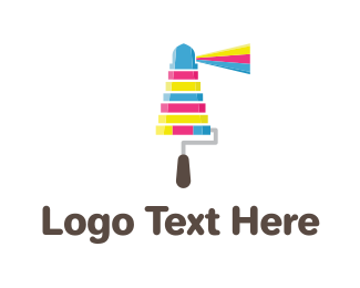 House Painter - Ink Lighthouse logo design