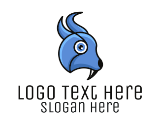 Fang - Blue Bird Fang logo design