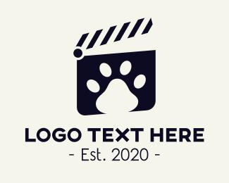 Clapperboard - Pet Clip logo design