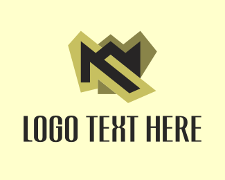 Invest - M Gold logo design