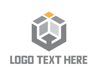 It Professional - Modern Grey Cube logo design