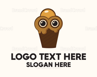 Cone - Ice Cream Character logo design