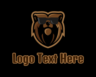 Sunglasses - Hipster Bear Sunglasses Mascot logo design