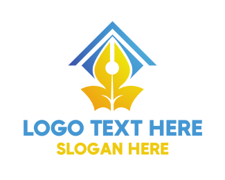 Fountain - Pen Shelter  logo design