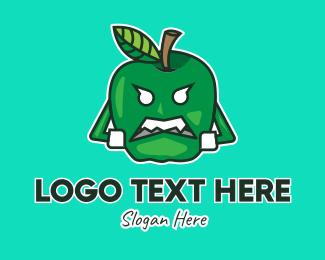 """Green Apple Mascot"" by JimjemR"