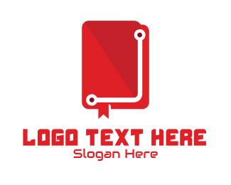 Study - Tech Book Manual logo design