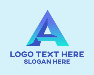 """Modern Gradient Letter A"" by LogoBrainstorm"