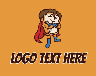 Comic Book - Superhero Bread Toast  logo design