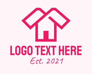 Fashion Designer - Pink Fashion House logo design