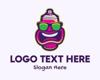 Mouth - Cartoon Spray Can logo design
