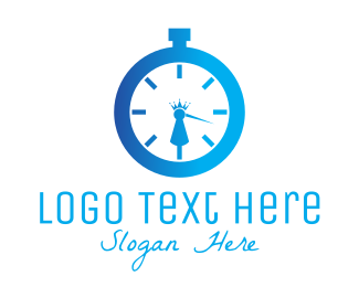 Timer - Royal Clock logo design