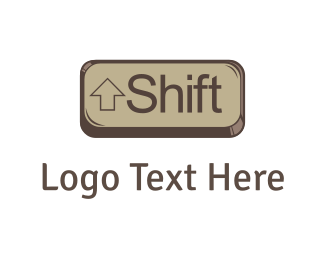 Change - Shift Key logo design