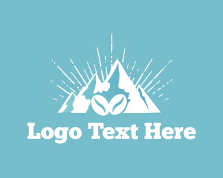 Iced Coffee - Coffee Mountain logo design