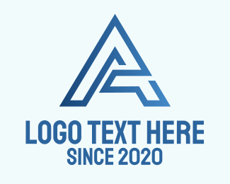 Construction - Blue Modern Letter A logo design