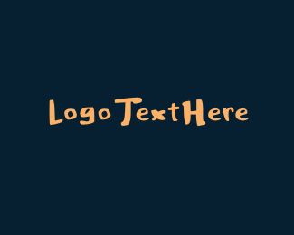 Burning Man - Thick Handwritten Font logo design