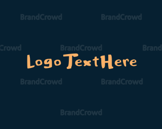 Burning Man - Thick Handwritten Font logo design