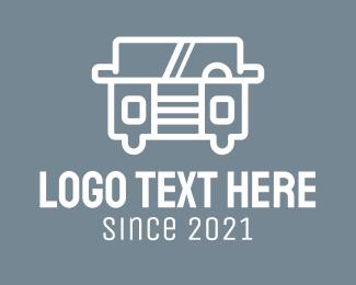 Transport - Transport Van Jeep logo design
