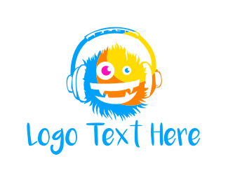 Crazy - Music Monster  logo design