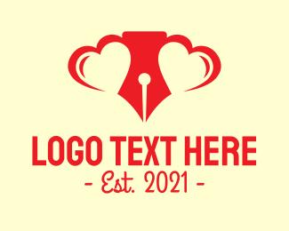 Notary - Love Letter Writer logo design