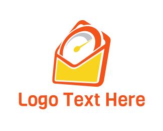 Clock - Mail Time logo design