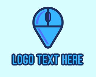 Technician - Computer Mouse Locator logo design