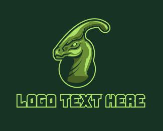 Dinosaur - Green Dinosaur Mascot  logo design