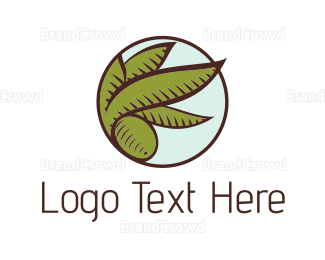 Italian Food - Olive Leaves logo design