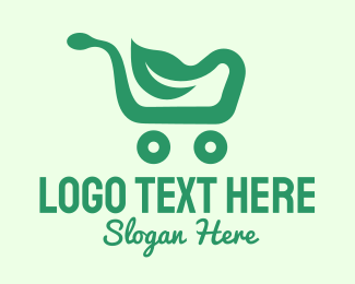 """""""Green Eco Shopping Cart"""" by SimplePixelSL"""