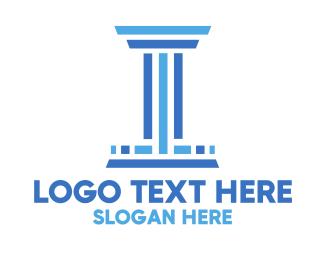 Column - Stripe Column Law Firm logo design