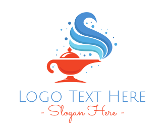 Mythical - Magic Genie Lamp logo design