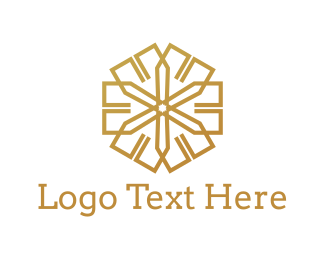 Tan - Golden Star logo design