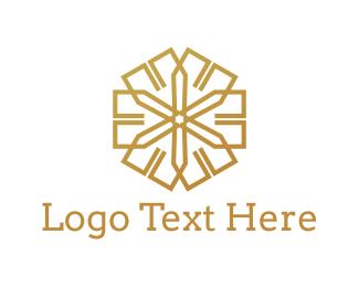 Golden - Golden Star logo design