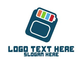 Charge - Data Battery  logo design