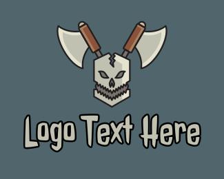 Esports - Skull Axe Esports logo design