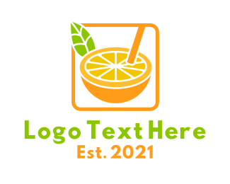 Drinks - Citrus Juice Drink logo design