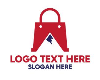 Purse - Red Bag Mountain logo design