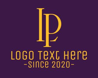 Jh - Golden Elegant Monogram L & P logo design