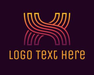Gradient - Gradient X Pattern logo design