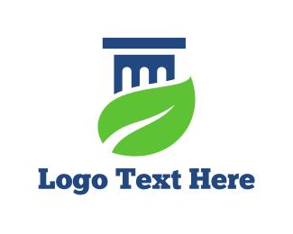 Leaf - Leaf & Column logo design