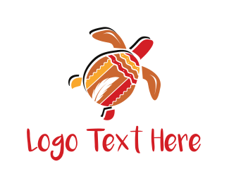 Tortoise - Tribal Turtle logo design