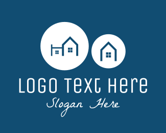 Townhouse - Blue Neighborhood logo design