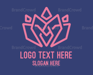 Salon - Abstract Pink Lotus logo design