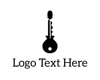 Key - Guitar Key logo design