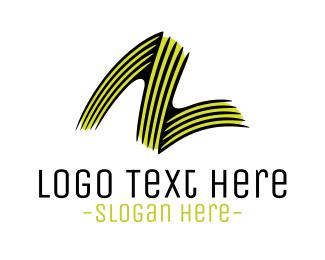 Lettermark Z - Letter Z Brushstroke logo design