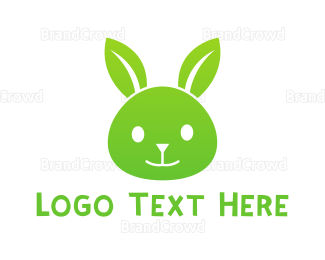 Easter Bunny - Eco Rabbit logo design